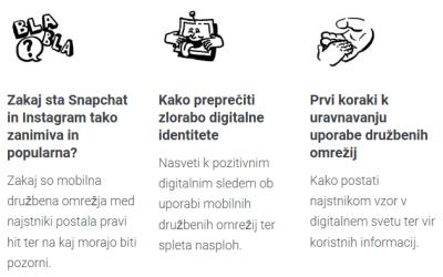 Predavanje za starše: Mobilna družbena omrežja