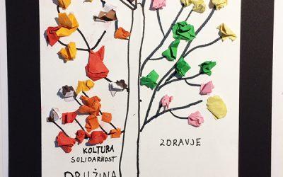 """""""Drevo vrednot"""", medgeneracijsko sodelovanje – Mavrično mesto"""