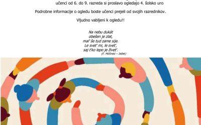 Vabilo na virtualno proslavo ob slovenskem kulturnem prazniku