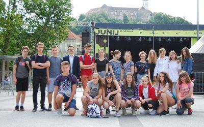 Učenci 9. r na srečanju za najuspešnejše učence ljubljanskih osnovnih šol